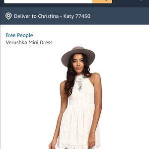 Free People Verushka Ivory Lace Mini Dress 10